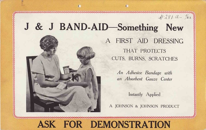 Band Aid 174 History The First Band Aid 174 Brand Adhesive